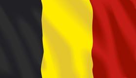 Wellenartig bewegende Markierungsfahne von Belgien Stockfoto
