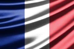 Wellenartig bewegende Markierungsfahne von Frankreich Lizenzfreie Stockbilder