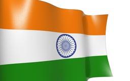 Wellenartig bewegende Markierungsfahne von Indien Lizenzfreie Stockfotos