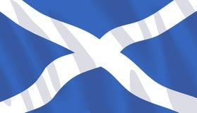 Wellenartig bewegende Markierungsfahne von Schottland stock abbildung