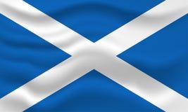 Wellenartig bewegende Markierungsfahne von Schottland Vektorabbildung für Ihr design vektor abbildung