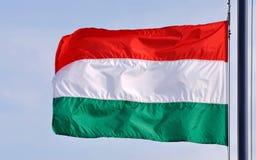 Wellenartig bewegende Markierungsfahne von Ungarn Lizenzfreie Stockbilder