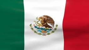 Wellenartig bewegende Mexiko-Flagge lizenzfreie abbildung