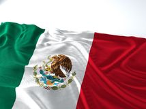 Wellenartig bewegende Mexiko-Flagge Lizenzfreies Stockfoto