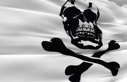 Wellenartig bewegende Piratenmarkierungsfahne Lizenzfreies Stockfoto