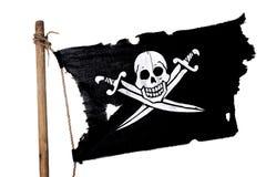Wellenartig bewegende Piratenmarkierungsfahne Lizenzfreie Stockbilder