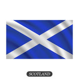 Wellenartig bewegende Schottland-Flagge auf einem weißen Hintergrund Auch im corel abgehobenen Betrag vektor abbildung