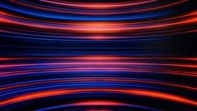 Wellenartig bewegende Streifen des schimmernden Lichtes endlos bewegend und zueinander parallel Abstrakter bunter Hintergrund mit vektor abbildung
