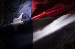 Wellenartig bewegende Texas-Flagge Stockbilder