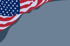 Wellenartig bewegende USA-Flagge lizenzfreie stockfotografie