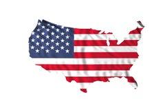 Wellenartig bewegende USA-Markierungsfahne