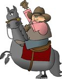 Wellenartig bewegender Cowboy Lizenzfreie Stockfotografie
