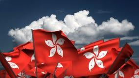 Wellenartig bewegender Hong Kong Flags