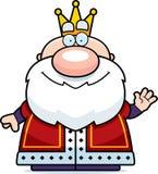 Wellenartig bewegender Karikatur-König Stockbild