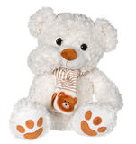 Wellenartig bewegender Teddybär Stockfotos