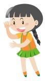 Wellenartig bewegendes hallo des kleinen Mädchens Lizenzfreie Stockfotografie