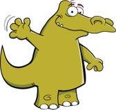 Wellenartig bewegendes Krokodil Stockbild
