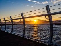 Wellenbrecher bei Ogden Point in Victoria BC Kanada; Sonnenuntergang t Lizenzfreie Stockfotografie