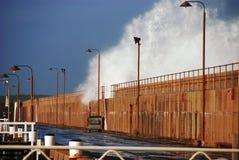 Wellenbrecherschwellen Lizenzfreies Stockfoto