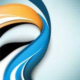 Wellenelement-Konzepthintergrund des Vektors eleganter Lizenzfreies Stockbild