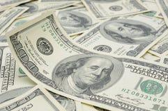 Wellenförmige Dollarrechnung Lizenzfreie Stockbilder