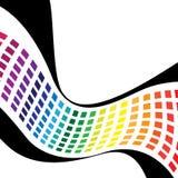 Wellenförmige Regenbogen-Quadrate Stockfotografie