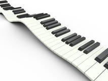wellenförmige Tastatur 3d Stockfotografie