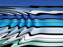Wellenförmige Zeile Muster Stockfotos