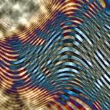 Wellenförmige Zeilen Stockfotos