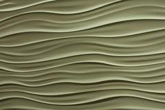 Wellenförmige Zeilen im Tan oder in der Kittfarbe Lizenzfreies Stockbild