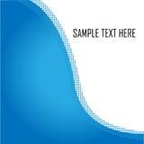Wellenförmiger blauer Hintergrund Lizenzfreie Stockfotos