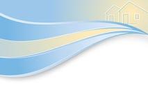 Wellenförmiger Grundbesitzfirmahintergrund Stockbilder