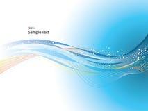 Wellenförmiger Hintergrund Lizenzfreies Stockfoto