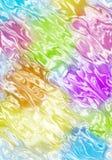 Wellenförmiges unscharfes Farbenmuster Stockbild