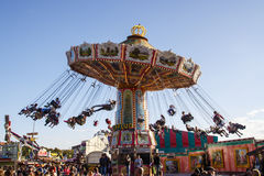 Wellenflug carousel at Oktoberfest in Munich, Germany, 2015 Stock Photos