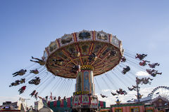 Wellenflug carousel at Oktoberfest in Munich, Germany, 2015 Royalty Free Stock Photography