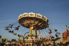Wellenflug carousel at Oktoberfest in Munich, Germany, 2016 Royalty Free Stock Photography