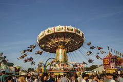Wellenflug carousel at Oktoberfest in Munich, Germany, 2016 Stock Images