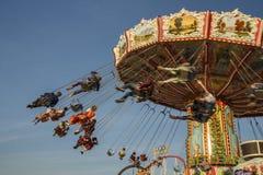 Wellenflug carousel at Oktoberfest in Munich, Germany, 2016 Stock Image