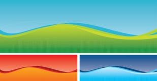 Wellenförmige Auslegung-Hintergründe Lizenzfreie Stockfotografie