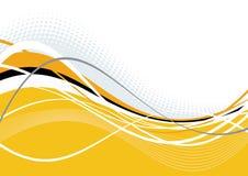 Wellenförmige orange und weiße Bänder   Lizenzfreie Stockfotografie