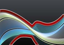 Wellenförmiger Hintergrund der gezeichneten Kunst Lizenzfreies Stockfoto
