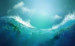 Wellenkonzept stockbilder