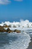 Wellenspritzen Stockbild