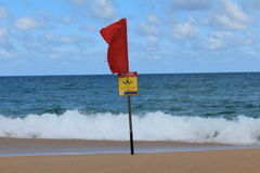 Wellenwarnung Lizenzfreies Stockfoto