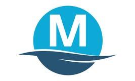 Wellenwasser Initiale M Lizenzfreies Stockfoto