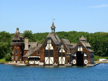 Wellesley海岛的Boldt城堡游艇之家 免版税库存照片