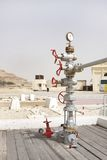 Wellhead assembly in the First oil well in the Persian Gulf, Bahrain Stock Photography