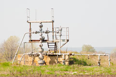 Wellhead in the oil and gas industry Royalty Free Stock Photography