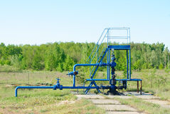 Wellhead in the oil and gas industry Royalty Free Stock Photo